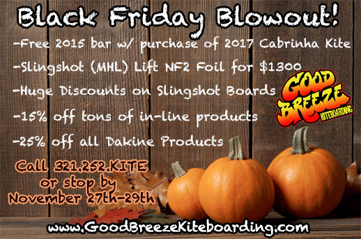 Kiteboarding closeout Black Friday Sales